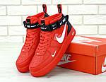Кроссовки Nike Air Force 1 TM Red, красные, фото 6