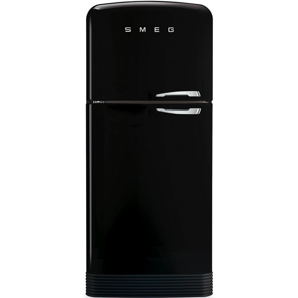 Отдельностоящий двухдверный холодильник, стиль 50-х годов Smeg FAB50LBL черный