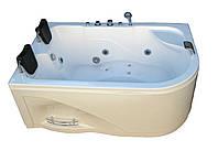 Ванна акриловая гидромассажная асимметричная KO&PO 052  (1800 х 1200 мм) с декоративной панелью