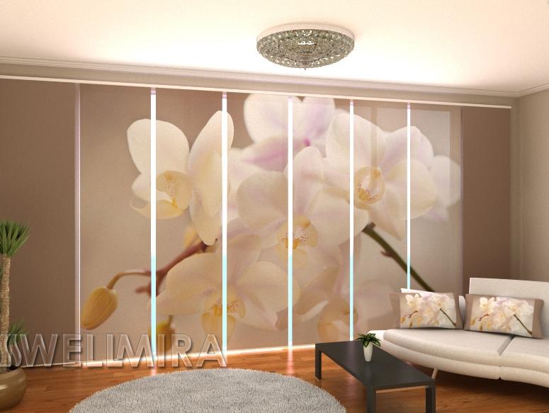 """Панельные Фото штори """"Элегантная орхидея"""" 480 х 240 см"""