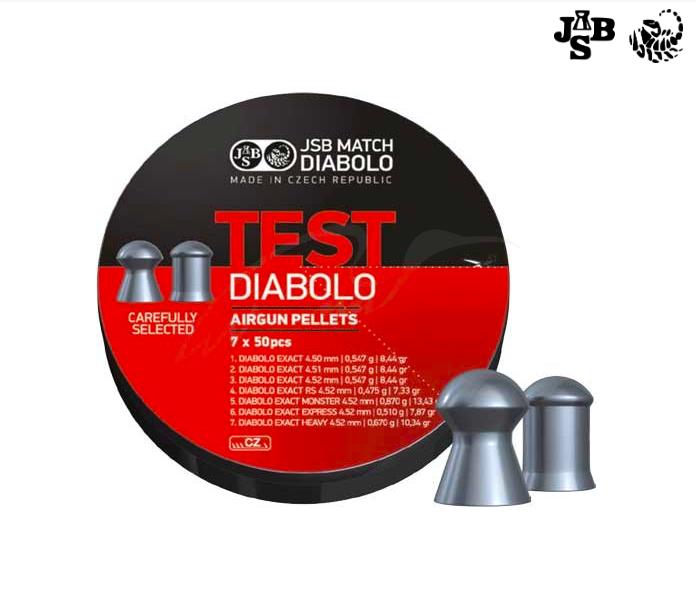 Пули пневматические JSB Diabolo Exact Test 4.5мм 0.51 0.547 0.67 350шт