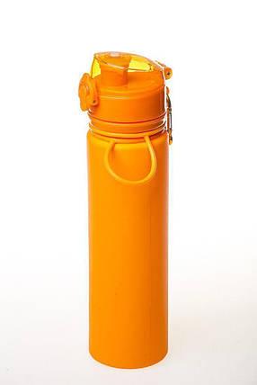 Бутылка силикон 700 мл оранжевый Tramp TRC-094-orange, фото 2