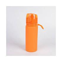 Бутылка силикон 700 мл оранжевый Tramp TRC-094-orange, фото 3