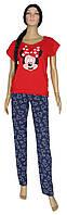 Пижама женская 19025 Minnie Red коттон, футболка и брюки, р.р.42-52