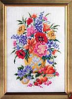Набор для вышивки крестом Полевые цветы. Размер: 20,6*30 см