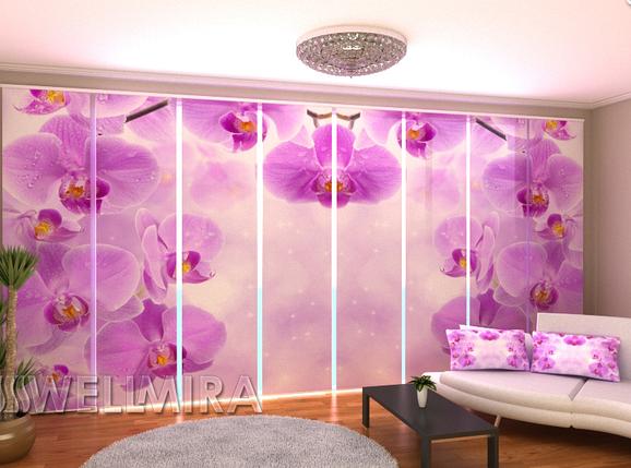 """Панельные Фотошторы """"Звездные Орхидеи"""" 480 х 240 см, фото 2"""
