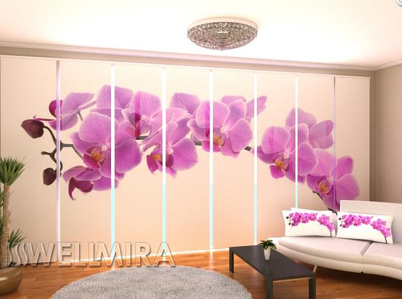 """Панельные Фотошторы """"Большая орхидея"""" 480 х 240 см, фото 2"""
