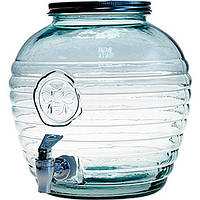Диспенсер стеклянный Abeja с крышкой и краном 8 л
