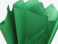 Бумага для помпонов, темно - зеленая