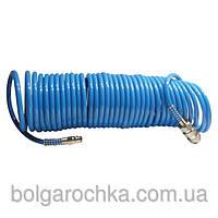 Шланг спиральный полиуретановый 5.5*8 мм 20 м Intertool PT-1709
