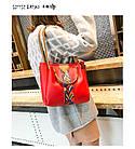 Набор женских сумок 4 предмета красного цвета с орнаментом 01100, фото 3