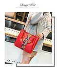 Набор женских сумок 4 предмета красного цвета с орнаментом 01100, фото 6