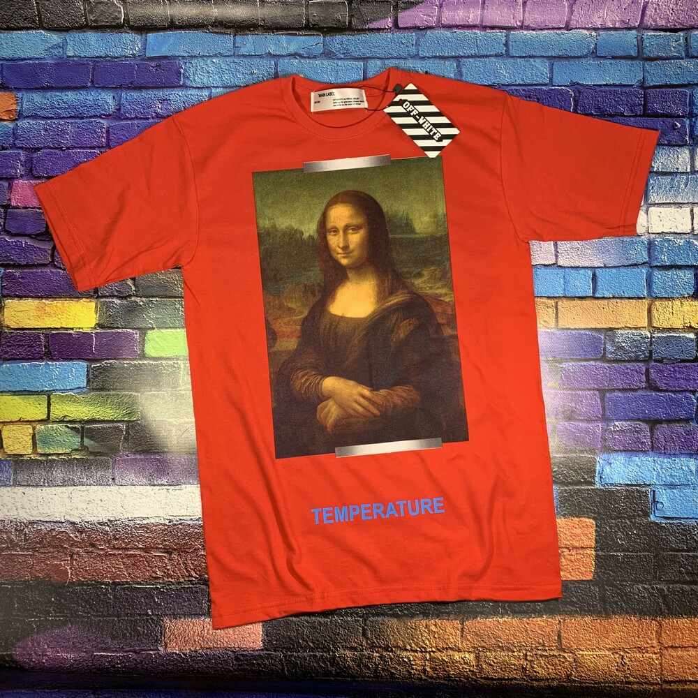 Футболка OFF WHITE Mona Lisa R • Топ бренд • Топ качество • Ориг бирки • Ориг принт