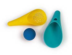 CUPPI. Игровой набор для песка и снега (зеленый+желтый совочки + синий мячик) QUUT