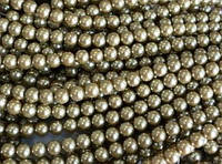 Бусина керамическая жемчуг 8 мм, нить 105-115 бусин, фото 1