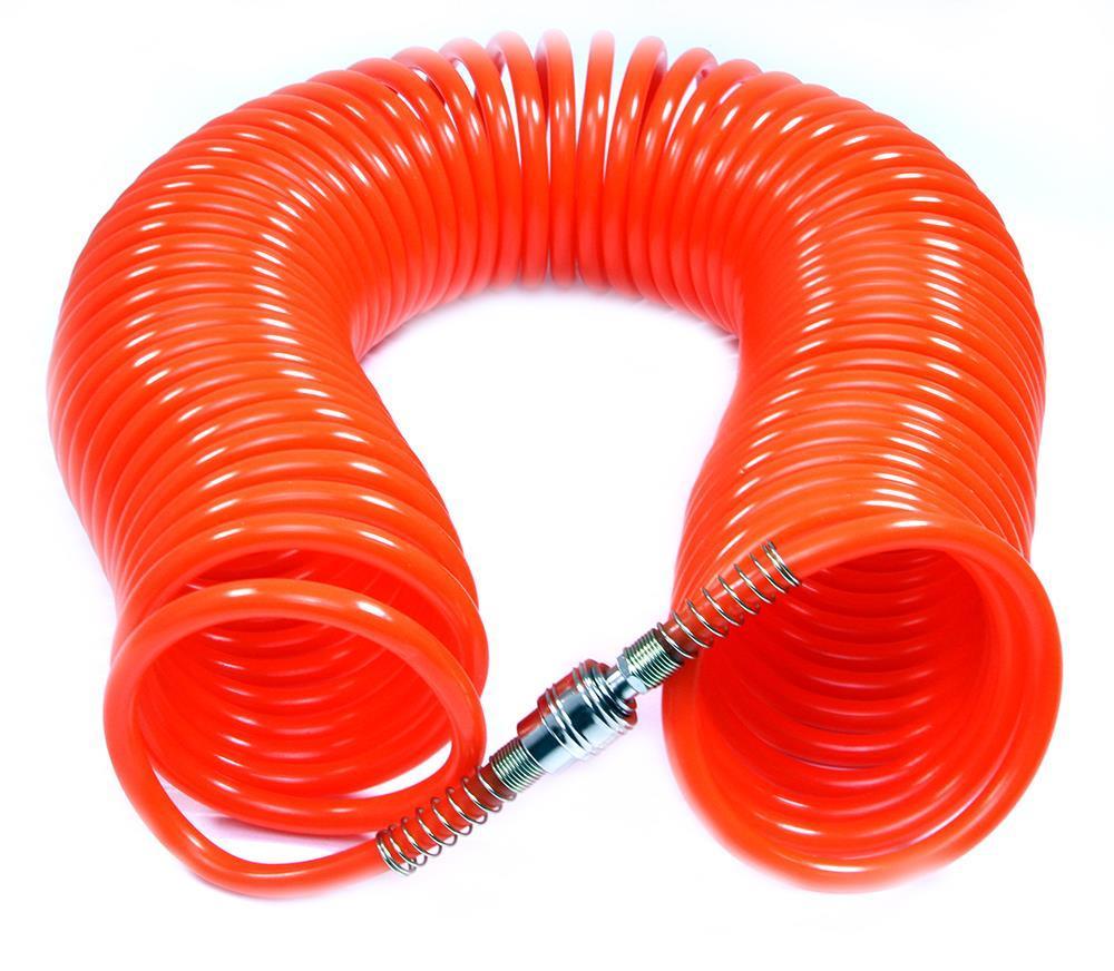 Пневматический спиральный шланг 15м 8mmx12mm PE Marpol