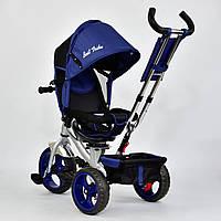 """Детский трехколесный велосипед, поворотное сидение """"Best Trike 5700"""" синий, рама серебро"""