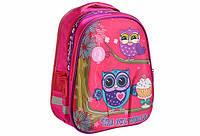 Рюкзак школьный каркасный для девочки KIDIS 39*30*18см  CUTE LITTLE OWL, фото 1