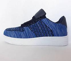 Кроссовки Wonex - 81 NAVI Синие Мокасины  (размеры: 37,38,39), фото 3