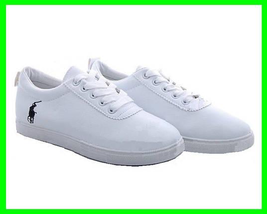 Женские Кроссовки Polo Белые Мокасины Слипоны (размеры: 36,37,38,39,40,41), фото 2
