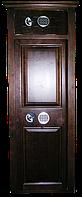 Оружейный сейф под заказ с отделкой из ценных пород древесины на 3 ствола ОРД-4