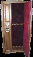 Оружейный сейф под заказ с отделкой из ценных пород древесины на 4 ствола ОР-Д 4