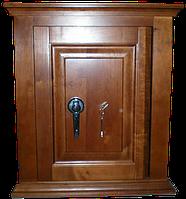 Офисный сейф под заказ с отделкой  из ценных пород древесины ОФ-М 1