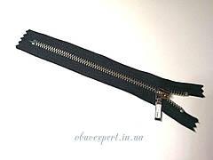 Молния YKK №5, 18 см, цв. черный, зуб никель