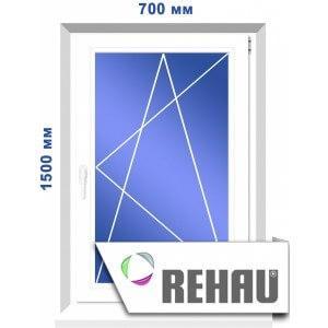 Одностворчатое окно, 700 х 1500 мм