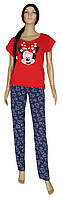 NEW! Женские домашние костюмы - футболка и брюки Minnie Red коттон ТМ УКРТРИКОТАЖ!