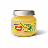 Дитяче пюре фруктове «Абрікос, Банан і Яблуко» Milupa 100г НОВИНКА!!!