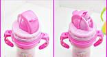 Детский термос 220 мл.с соской и трубочкой, фото 4