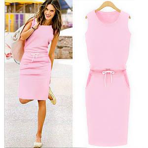 Розовое спортивное платье Jenny (Код MF-154) L