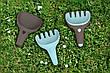 Ігровий набір для піску і снігу Quut Raki сірий совочок і блакитні грабельки (170747), фото 5