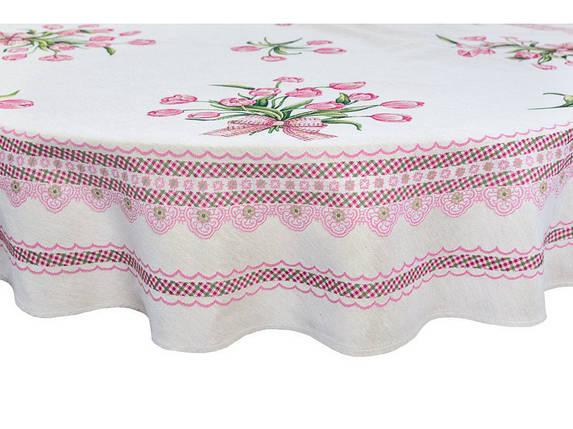 Скатерть тканевая гобеленовая пасхальная круглая Ø180 см на круглый стол, фото 2