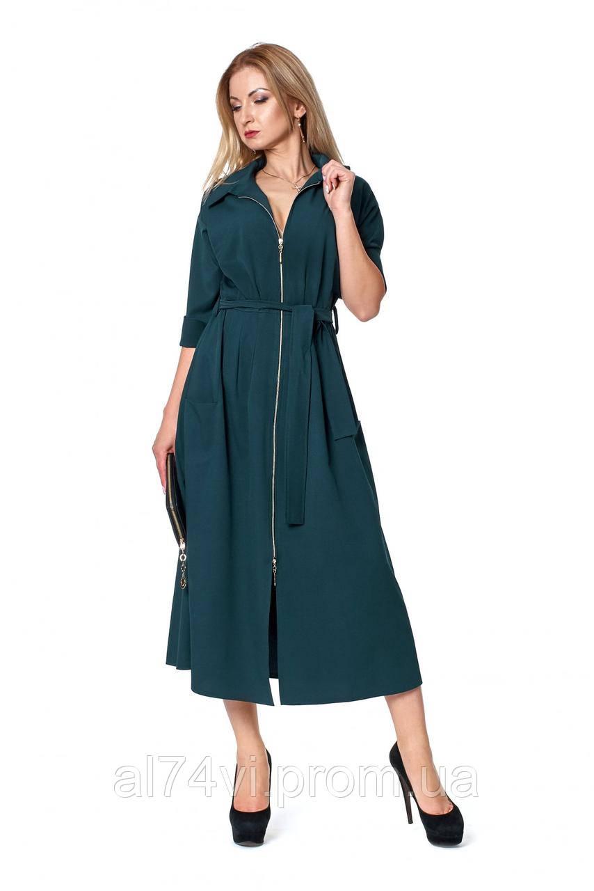 23560677741 Длинное платье на молнии под поясок