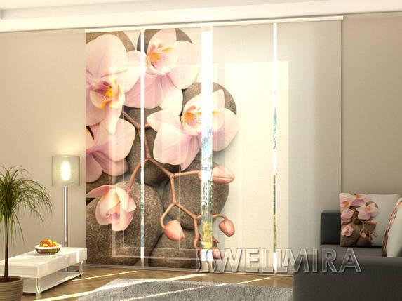 """Панельные Фотошторы """"Венская орхидея"""" 240 х 240 см фото шторы штори панельная штора, фото 2"""