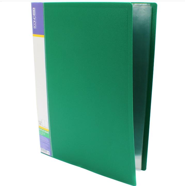 Папка А4 с 10 файлами Economix, зеленая E30601-04 - фото 1