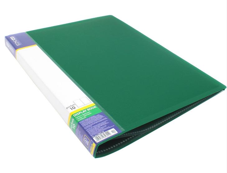 Папка А4 с 10 файлами Economix, зеленая E30601-04 - фото 2