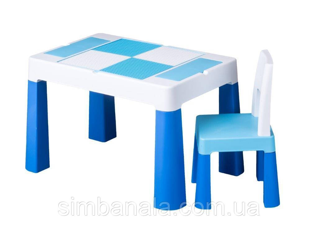 Комплект детской мебели(стол+стульчик) синий цвет, Польша