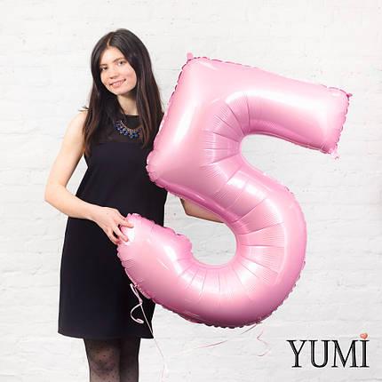 Цифра 5 нежно-розовая, фото 2