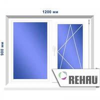 Двустворчатое окно, 1200 х 900 мм