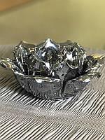 Подсвечник из керамики Роузи серебряный
