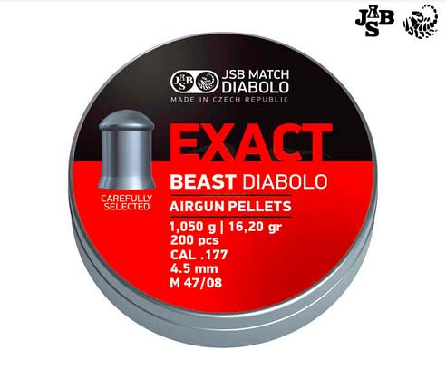 Пули пневм JSB Diabolo Exact Beast 4.52мм 1.05г 200шт, фото 2
