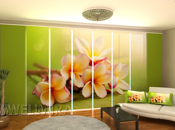 """Панельные Фото штори """"Весенние цветы"""" 480 х 240 см, фото 2"""