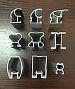 Конструктор для дверей шкафов купе, гардеробных из алюминиевого профиля (4х дверный), фото 3