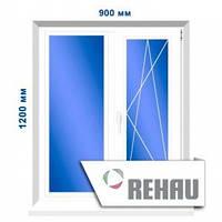 Двустворчатое окно, 900 х 1200 мм