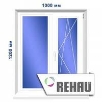 Двустворчатое окно, 1000 х 1200 мм