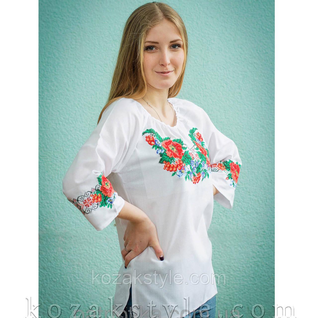 Жіноча вишиванка біла