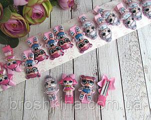 Детские заколки-уточки для волос куклы LOL 4 см 20 шт/уп.